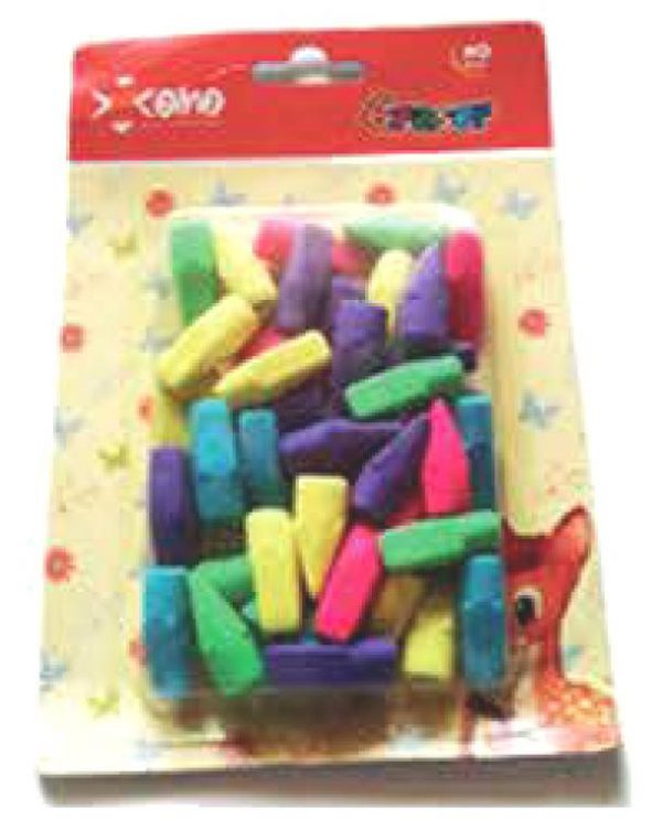 Blister de gomas de colores