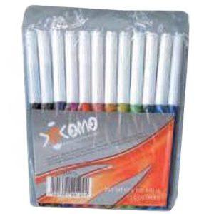 Plumones de colores bolsa con 12