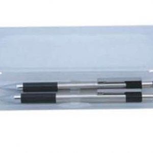 Bolígrafo con lapicero en plata
