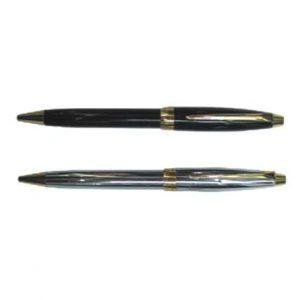 Bolígrafo metálico negro y plata