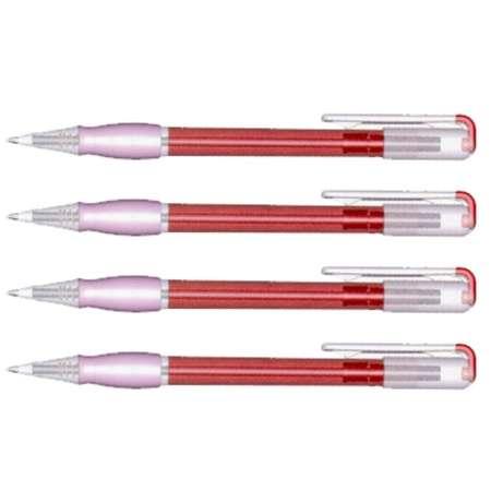 bolígrafo 6 colores transparente