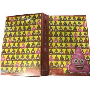 Carpeta escolar de emojis poo