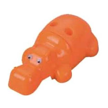 Sacapuntas metálico en figura de hipopótamo