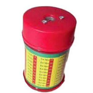 Sacapuntas metálico tablas de multiplicar